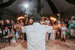 מופע להטוטים בחתונה תיאטרון מופאש